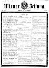 Wiener Zeitung 19161125 Seite: 1