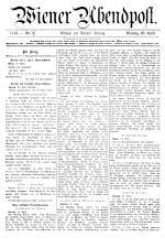 Wiener Zeitung 19180429 Seite: 1