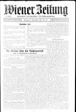 Wiener Zeitung 19271127 Seite: 1