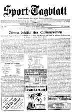 (Wiener) Sporttagblatt