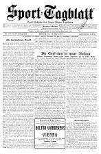 (Wiener) Sporttagblatt 19250513 Seite: 1
