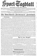(Wiener) Sporttagblatt 19270624 Seite: 1