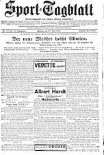 (Wiener) Sporttagblatt 19270627 Seite: 1
