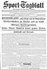 (Wiener) Sporttagblatt 19280714 Seite: 1
