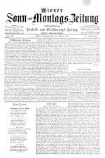 Wiener Sonn- und Montags-Zeitung 18930320 Seite: 1