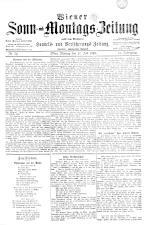 Wiener Sonn- und Montags-Zeitung 18930717 Seite: 1