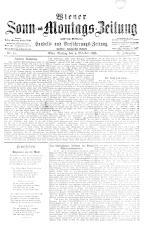 Wiener Sonn- und Montags-Zeitung 18931009 Seite: 1