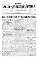 Wiener Sonn- und Montags-Zeitung 19190331 Seite: 1