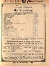 Theaterzettel der beiden k.k. Hoftheater und des k.k. priv. Theaters an der Wien und ihrer Nachfolgerinstitutionen (tit. fict.)