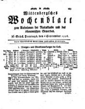 Wittenbergisches Wochenblatt