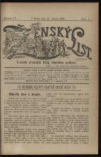 Zensky List: Casopis pracujici tridy zenskeho pohlavi (Frauenblatt)