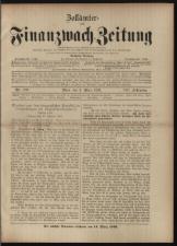Zollämter- und Finanzwach-Zeitung 18930306 Seite: 1