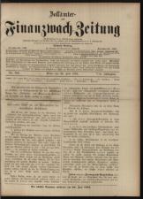 Zollämter- und Finanzwach-Zeitung 18930720 Seite: 1
