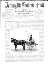 Zeitung für Landwirtschaft 18930101 Seite: 1