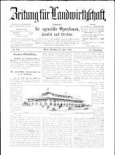 Zeitung für Landwirtschaft 18930620 Seite: 1