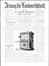 Zeitung für Landwirtschaft 18930720 Seite: 1