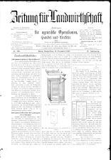 Zeitung für Landwirtschaft