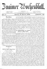 Znaimer Wochenblatt 18840209 Seite: 1