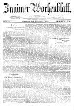 Znaimer Wochenblatt 18840216 Seite: 1