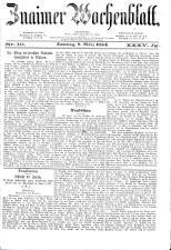 Znaimer Wochenblatt 18840308 Seite: 1