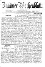 Znaimer Wochenblatt 18840329 Seite: 1
