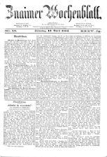 Znaimer Wochenblatt 18840412 Seite: 1
