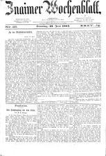 Znaimer Wochenblatt 18840621 Seite: 1