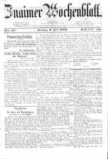 Znaimer Wochenblatt 18840704 Seite: 1