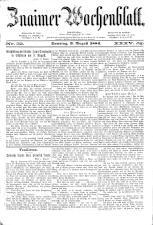 Znaimer Wochenblatt 18840809 Seite: 1