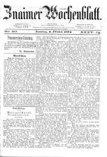Znaimer Wochenblatt 18841004 Seite: 1