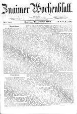 Znaimer Wochenblatt 18841018 Seite: 1