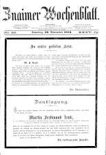 Znaimer Wochenblatt 18841129 Seite: 1