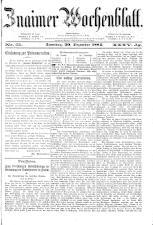 Znaimer Wochenblatt 18841220 Seite: 1