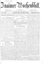 Znaimer Wochenblatt 18841227 Seite: 1
