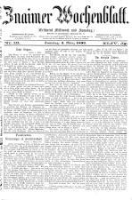 Znaimer Wochenblatt 18930304 Seite: 1