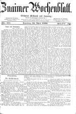 Znaimer Wochenblatt 18930415 Seite: 1