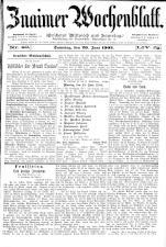 Znaimer Wochenblatt