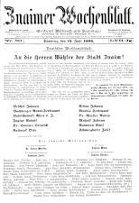 Znaimer Wochenblatt 19060623 Seite: 1