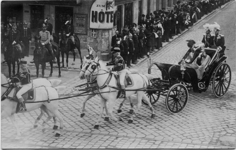 Kaiser Wilhelm II. und Kaiser Franz Joseph I. in Wien