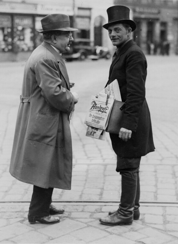 Zeitungsverkäufer der Wiener Abendpost