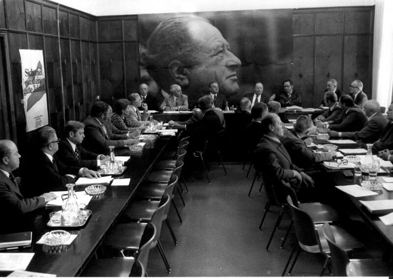 Pressekonferenz von Bruno Kreisky