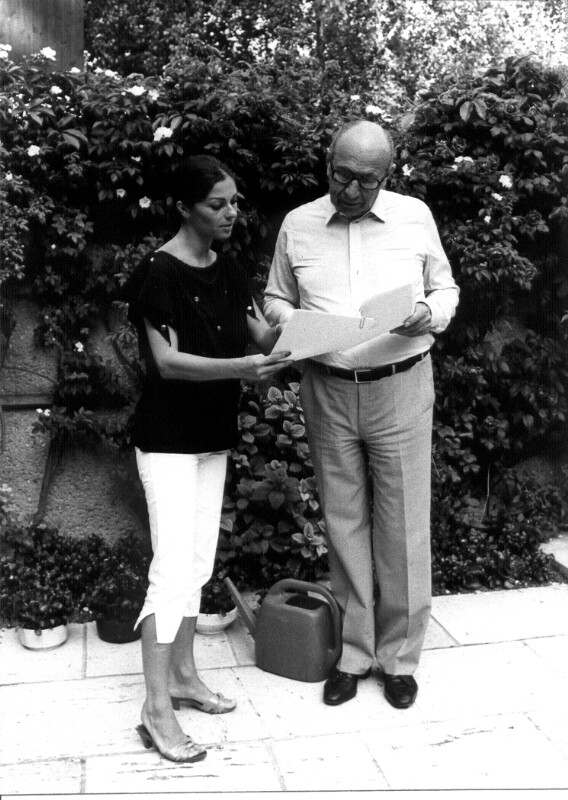 Franz Antel mit seiner Frau Sybilla