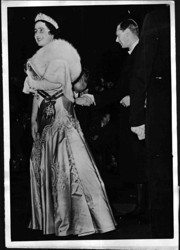 Das britische Königspaar Georg IV und Elizabeth
