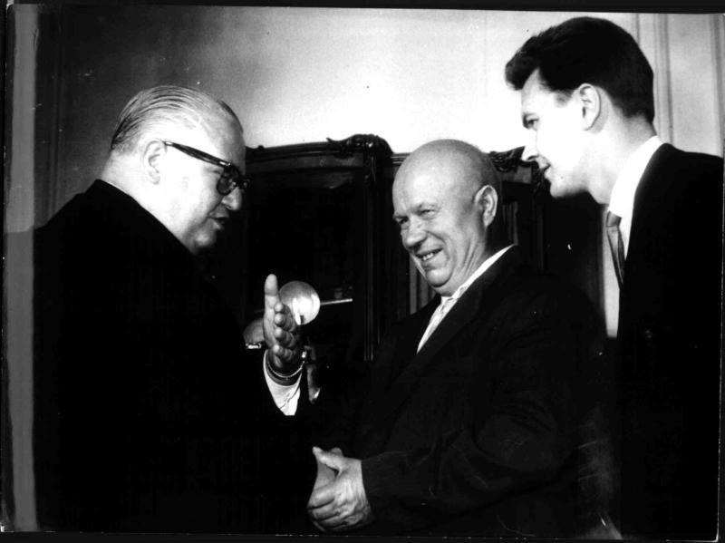 Bruno Pittermann und Nikita Chruschtschow