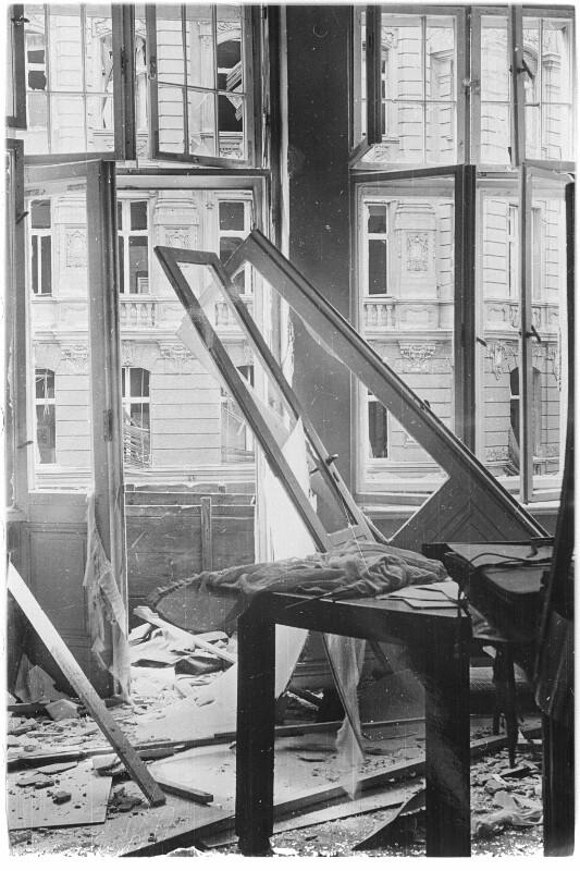 Zerstörte Wohnung in Wien