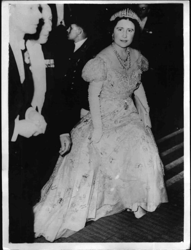 Das englische Königspaar bei einer Feier des Stadtrates
