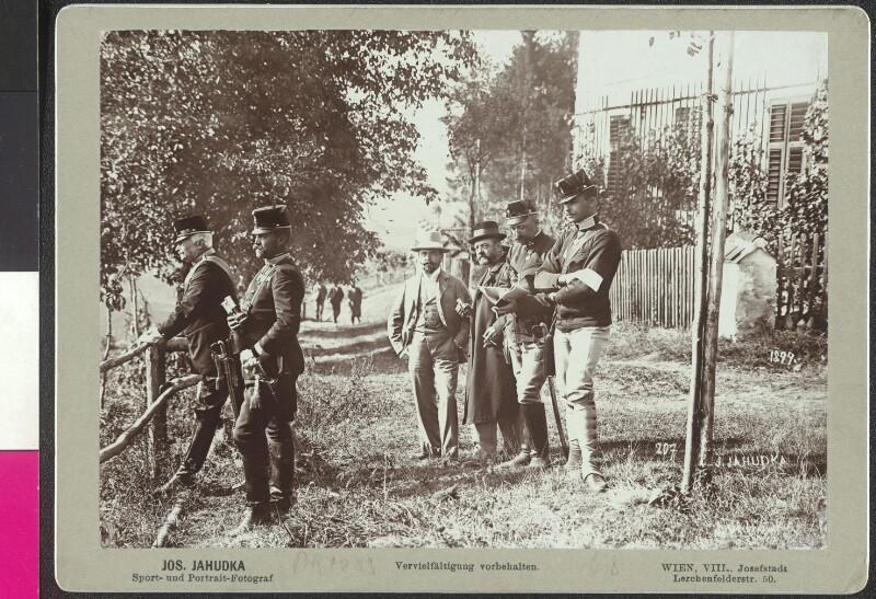 Kaiser Franz Joseph auf Manöver im Raum Klagenfurt