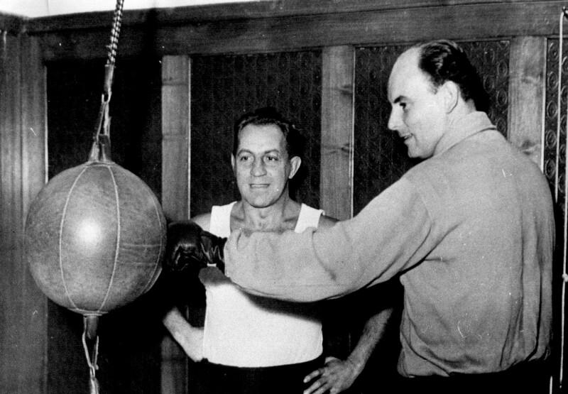 Fred Liewehr beim Boxen