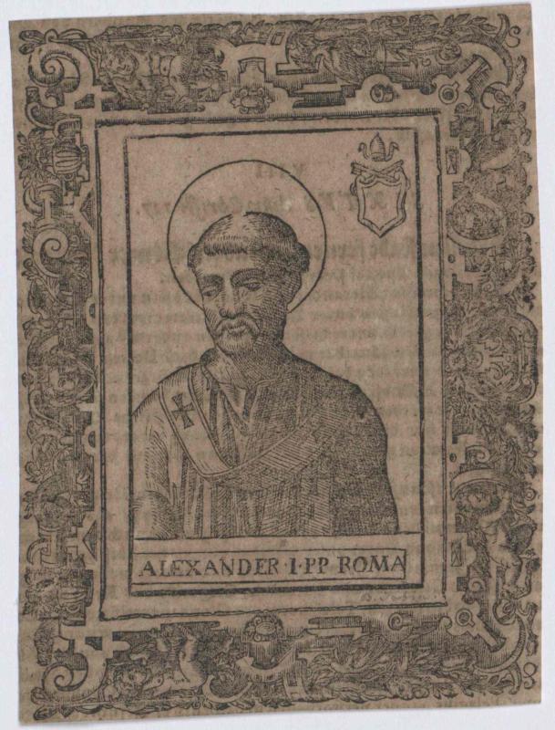 Alexander I., Heiliger papa