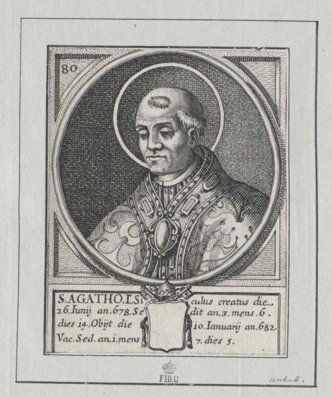 Agatho, papa   Heiliger
